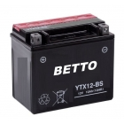 Battery YTX12-BS 12V-10Ah MF Sizes (LxWxH) 150x87x130mm - maintenance free, with acid