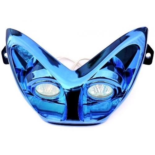 HEADLIGHT DUAL OPTICS BLUE - YAMAHA AEROX, MBK NITRO